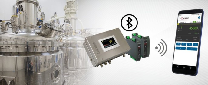 Scaime dote ses contrôleurs de pesage eNod4 de la connectivité Bluetooth.