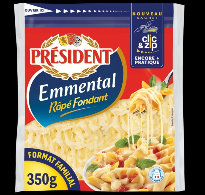 Le sachet d'emmental Président s'ouvre et se referme plus facilement /  Emballage - Process Alimentaire