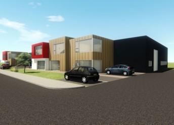 Disponible à la location à partir de mars 2021, le Pôle C imaginé par Eric Gautier, fondateur de MG Tech, regroupe six ateliers de 200 m² couplés à 580 m² de bureaux.