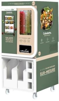 Déjà testé dans les Hauts-de-France avec succès, le robot Cabaletta de Bonduelle conçu en partenariat avec la start-up californienne Chowbotics permet de composer ses salades à tous moments.