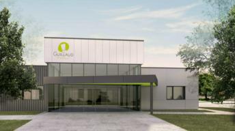 Programmés de septembre 2021 à juillet 2022, les travaux d'agrandissement  de Traiteur Guillaud permettront de doubler la surface de travail et de créer une nouvelle partie « légumerie » pour accompagner le développement de l'activité. (Visuel : groupe em2c et Unanime Architectes Alpes)