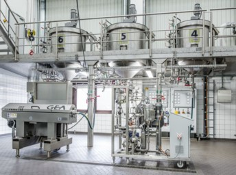 Afin de concevoir le projet, LSDH et GEA ont mené une série d'essais dans les centres de tests de GEA à Ahaus et Oelde en Allemagne. Crédit : GEA.