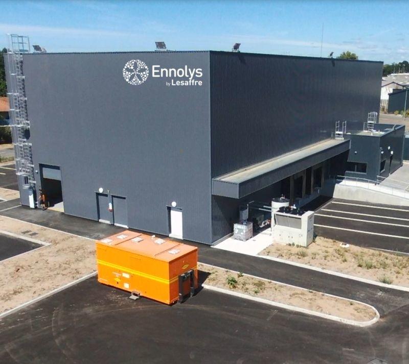 Ennolys a construit une extension de 1000 m2 de stockage à Soustons dans les Landes. Crédit photo : Ennolys