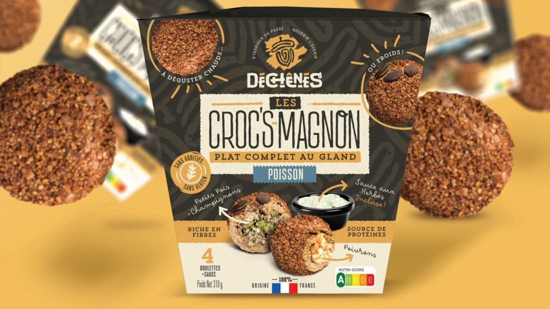 Les Croc's Magnon Plat complet, durable et nomade qui   met   en   valeur   la saveur des glands. ONIRIS et École de Design Nantes Atlantique