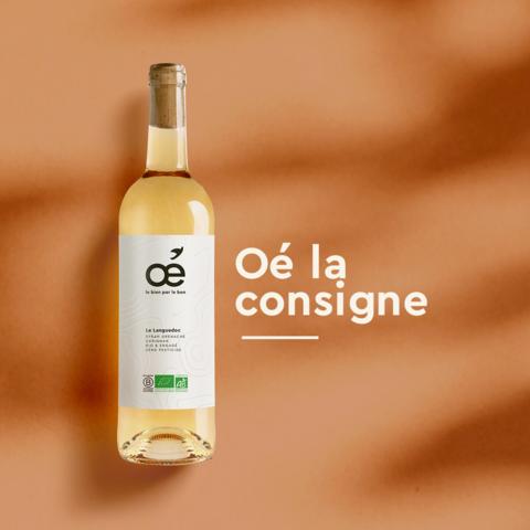Depuis septembre, la start-up lyonnaise Oé, spécialisée dans le vin bio, sans pesticide et vegan, réintroduit la consigne de bouteilles avec l'aide d'un partenaire du réemploi, la société Rebooteille.