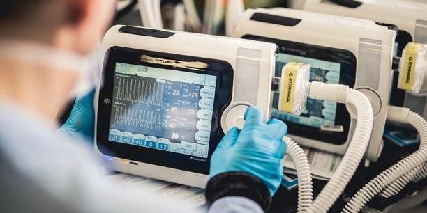 Air Liquide, PSA, Schneider Electric et Valeo relèvent le défi de produire 10 000 respirateurs Air Liquide Medical Systems pour faire face à la progression de l'épidémie de coronavirus. (Crédit : Air Liquide)