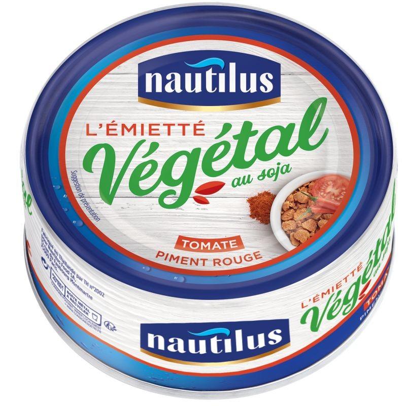 Nautilus se démarque en lançant une alternative au thon en boîte : l'émietté végétal au soja. Crédit photo Nautilus.