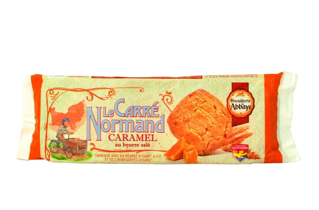 Prix Gourmandie : Carré normand au caramel beurre salé. Cette nouveauté de la Biscuiterie de l'Abbaye incarne la générosité d'un biscuit de terroir. 97 % des ingrédients mis en oeuvre proviennent du territoire normand (farine, beurre, sucre, caramel au beurre salé,...). L'innovation est aussi dans l'emballage recyclable (du papier majoritairement). La suppression de l'étui carton a permis de diminuer de 10 % l'empreinte carbone.