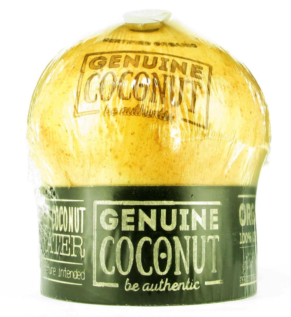 L'eau de coco est très présente sur le salon. Genuine Coconut se distingue avec un conditionnement en coque dotée d'une ouverture facile grâce à une languette biodégradable fabriquée en fibres de noix recyclée et en résine naturelle.