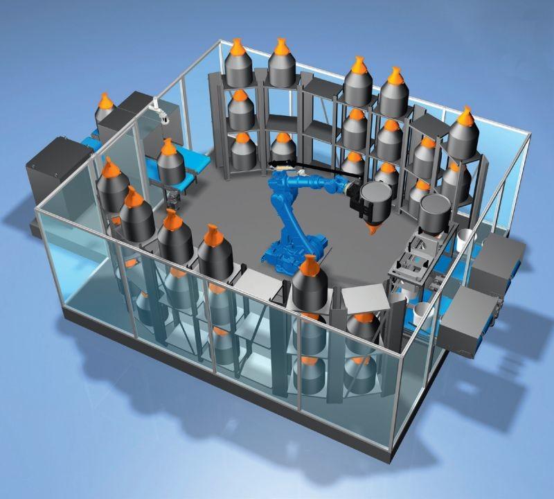 Azo repense le dosage des pulvérulents et présente le système robotisé RoLog.