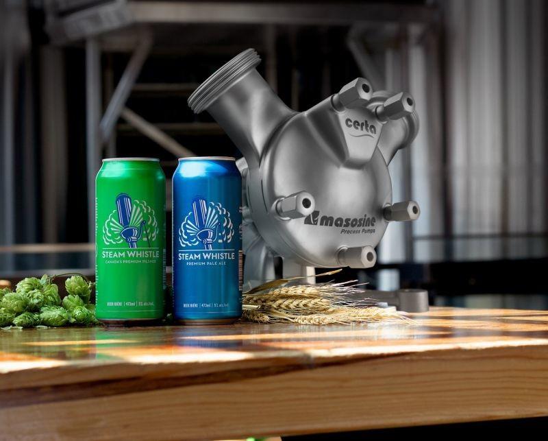 La brasserie canadienne Steam Whistle utilise une pompe à faible cisaillement pour ne pas endommager les levures lors de leur incorporation dans les cuves de fermentation.