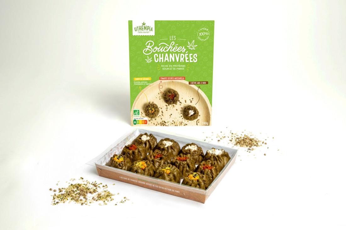 Les Bouchées chanvrées : apéritif frais à base de chanvre, bouchée végétarienne et bio.  ONIRIS et École de Design Nantes Atlantique
