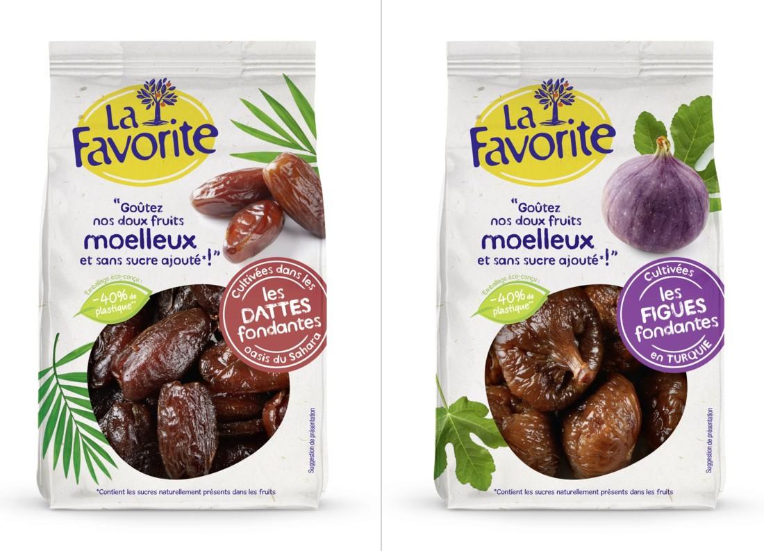 Pour ses dattes, abricots, figues et raisins, La Favorite utilise désormais des sachets contenant 40 % de plastique en moins.