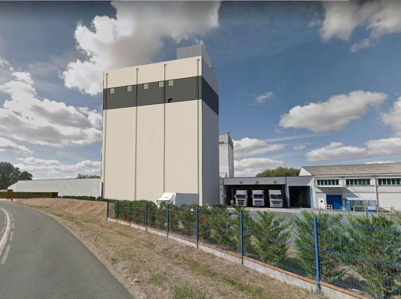 Ici représentée en 3D, la future tour de mélange Bonilait à Chasseneuil-du-Poitou (86) culminera à 43 m. (crédit : Groupe Idec)