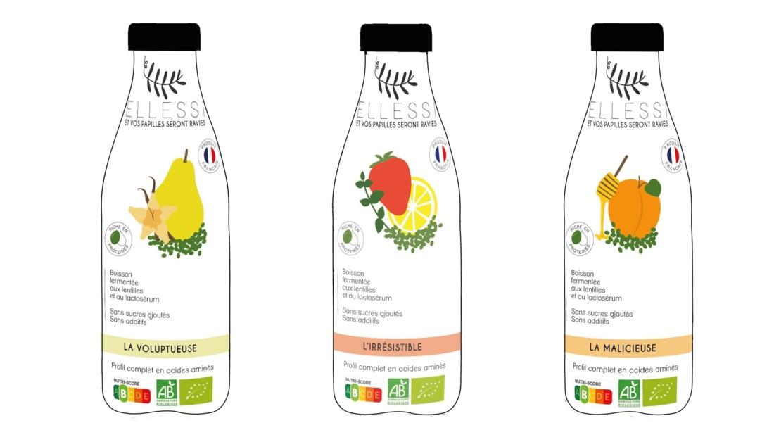 Ellessi : boisson fruitée fermentée à base de lentilles vertes et de lactosérum, riche en protéines. ENSAIA, Université de Lorraine, ENSAD Nancy et IAE Metz