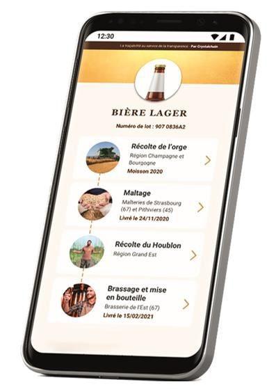 Avec sa nouvelle application blockchain Transparency, Malteries Soufflet donne accès aux données de traçabilité de la bière, depuis la culture des céréales jusqu'à la bouteille.
