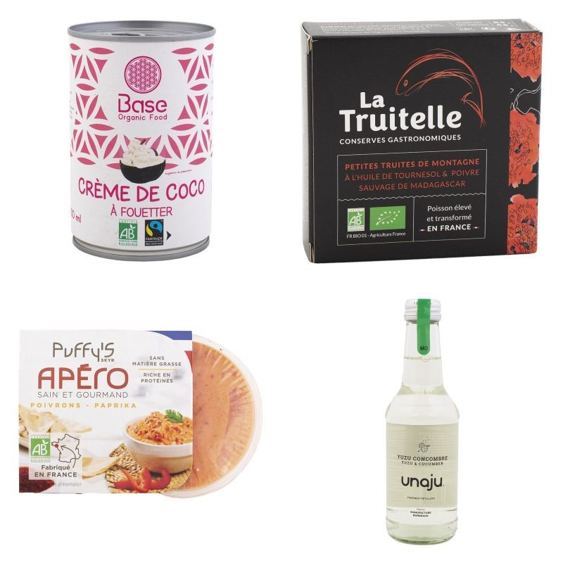 330 produits ont été présentés dans huit catégories lors des trophées Natexpo 2021. Parmi les médailles d'or, on compte Base Organic Food, La Truitelle, Puffy's et Unaju. Crédit photo Natexpo.