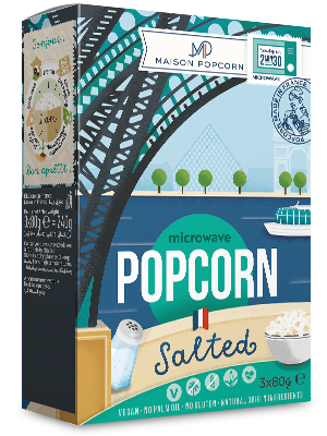 Le pop-corn micro-ondable Maison Popcorn de l'entreprise gersoise Nataïs.