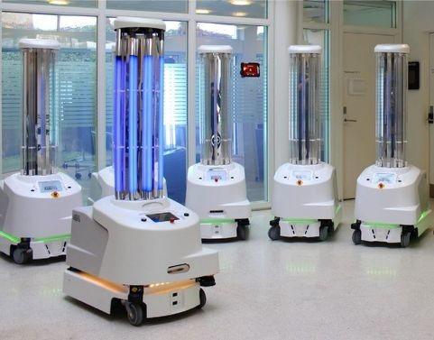 Les hôpitaux chinois ont commandé des robots UVD du constructeur danois Blue Ocean Robotics pour désinfecter les locaux.