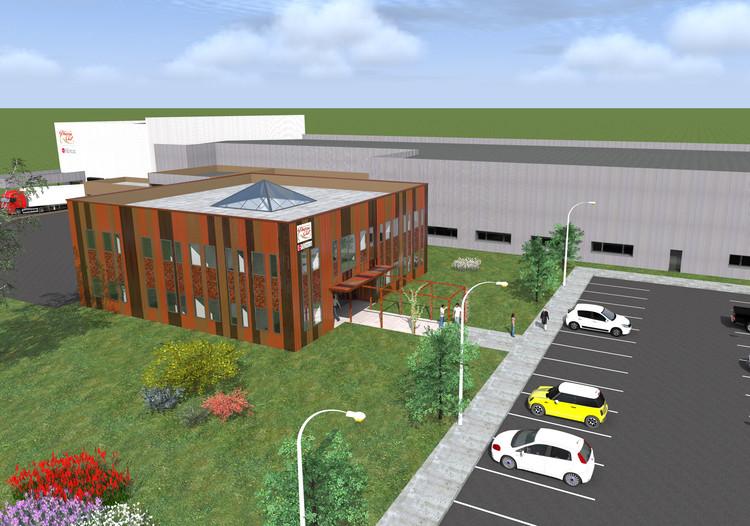 La nouvelle usine occupera 5500 m² sur un terrain de 15 000 m² avec une réserve foncière permettant de réaliser des extensions jusqu'à une surface totale de 10 000 m².
